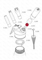 Matice plnícího ventilu iSi, nerezová