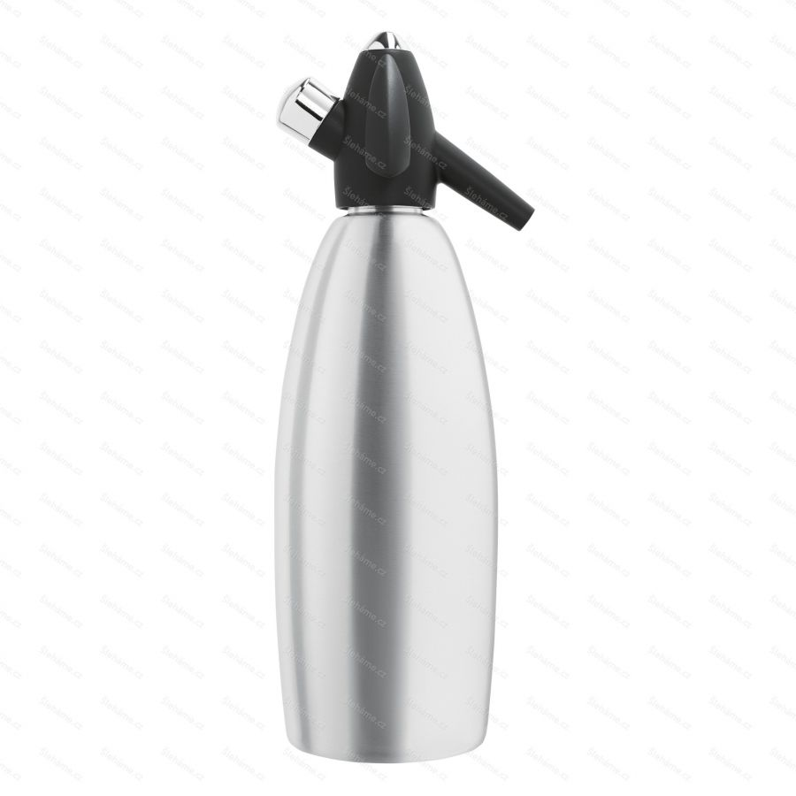 Sifónová fľaša iSi SODA SIPHON 1 l, strieborná