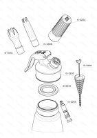 Šľahačková fľaša iSi CREAM PROFI WHIP 0.5 l