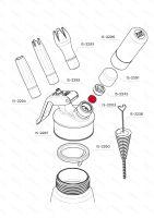 Tesnenie plniaceho ventilu iSi