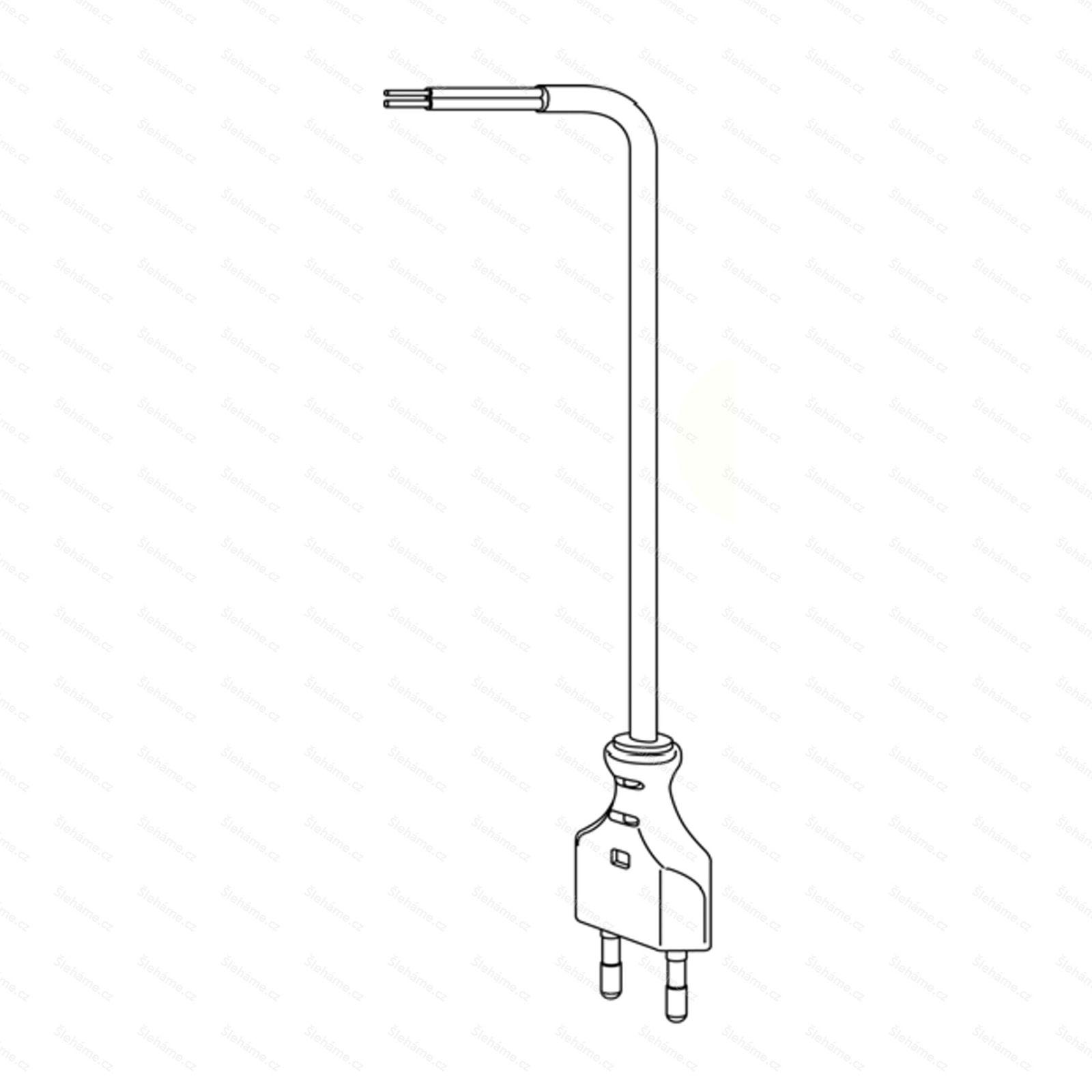 Kabel Bamix rovný 190 cm, šedý