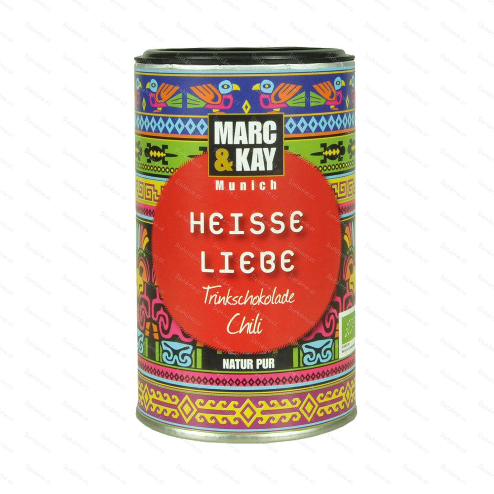 BIO Horká čokoláda chili Marc & Kay, 250 g