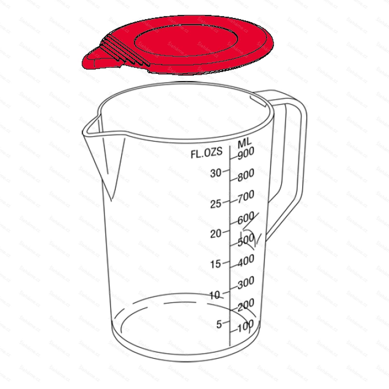 Náhradní víčko nádoby 1 l s držadlem, černé
