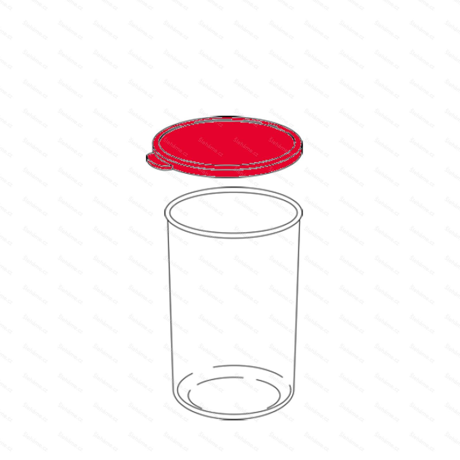 Náhradní víčko poháru 400 ml, šedé