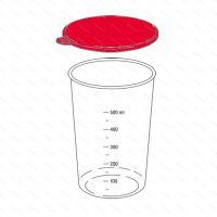 Zobraziť detail - Viečko pohára 600 ml, čierne