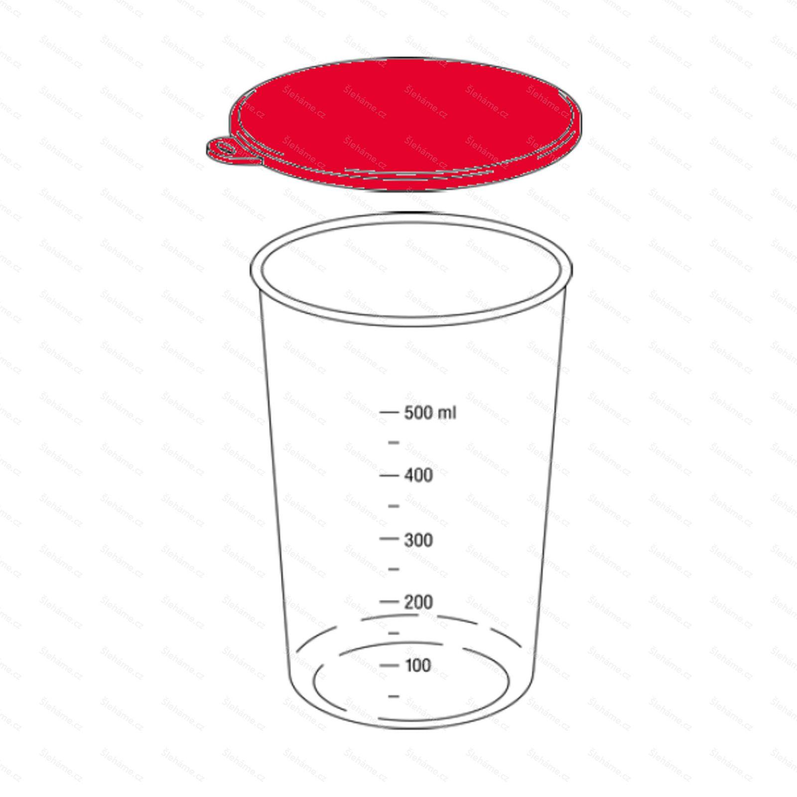 Náhradní víčko poháru 600 ml, šedé
