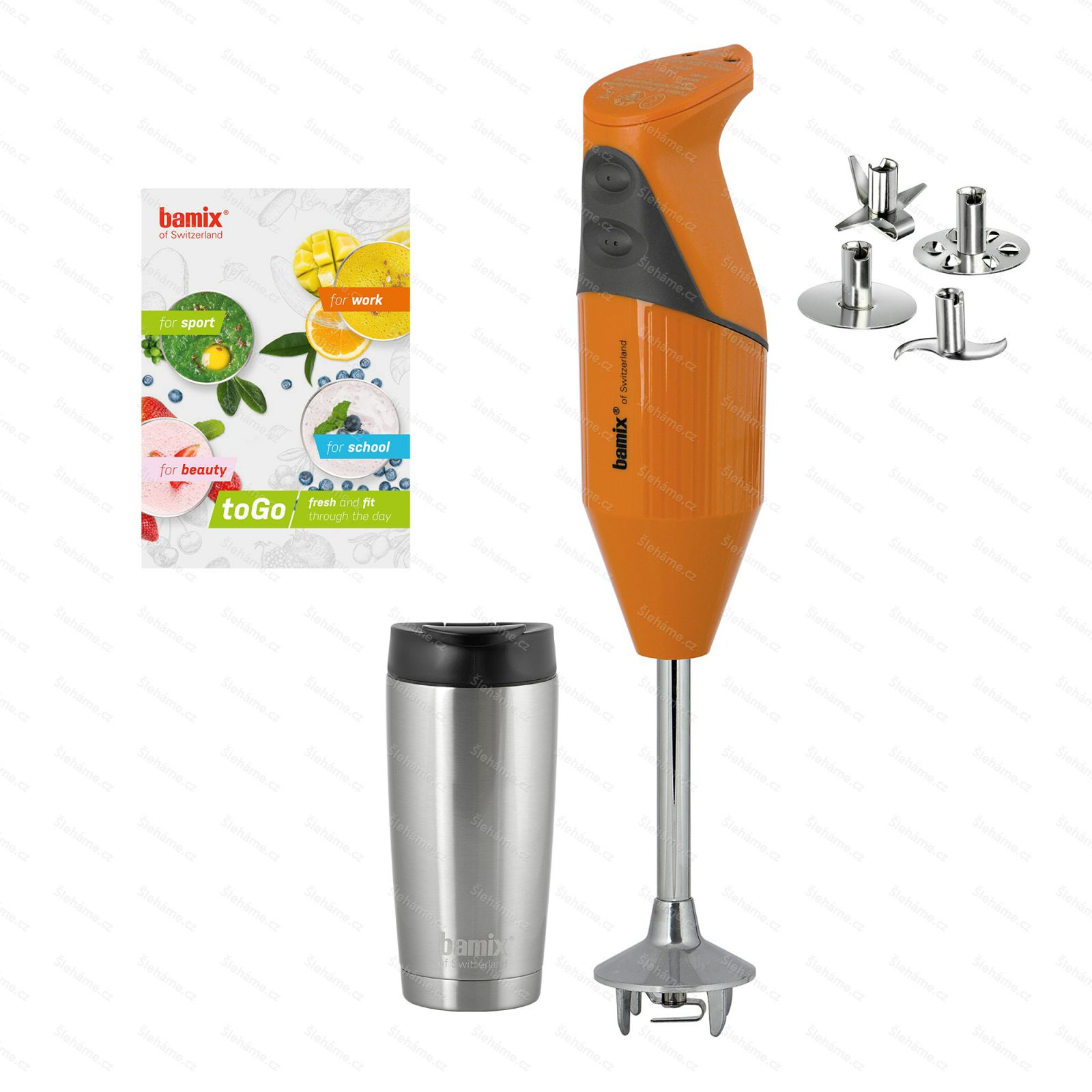 Tyčový mixér bamix® TOGO M180, oranžový