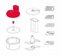 Zobraziť detail - Veko krájača SliceSy, červené