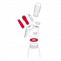 Sada náhradních dílů pro šlehačkové láhve iSi DESSERT WHIP PLUS, bílá