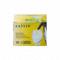 Sifonové bombičky Kayser 7.5 g CO2, 25 ks (na jedno použití)