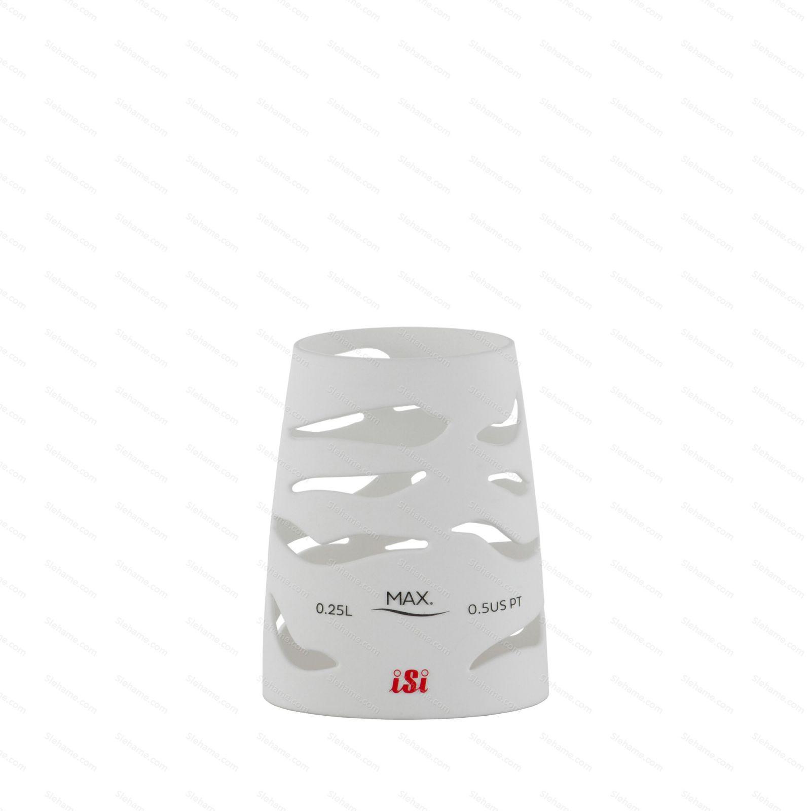 Silikónový návlek pre šľahače iSi 0.25 l, biely
