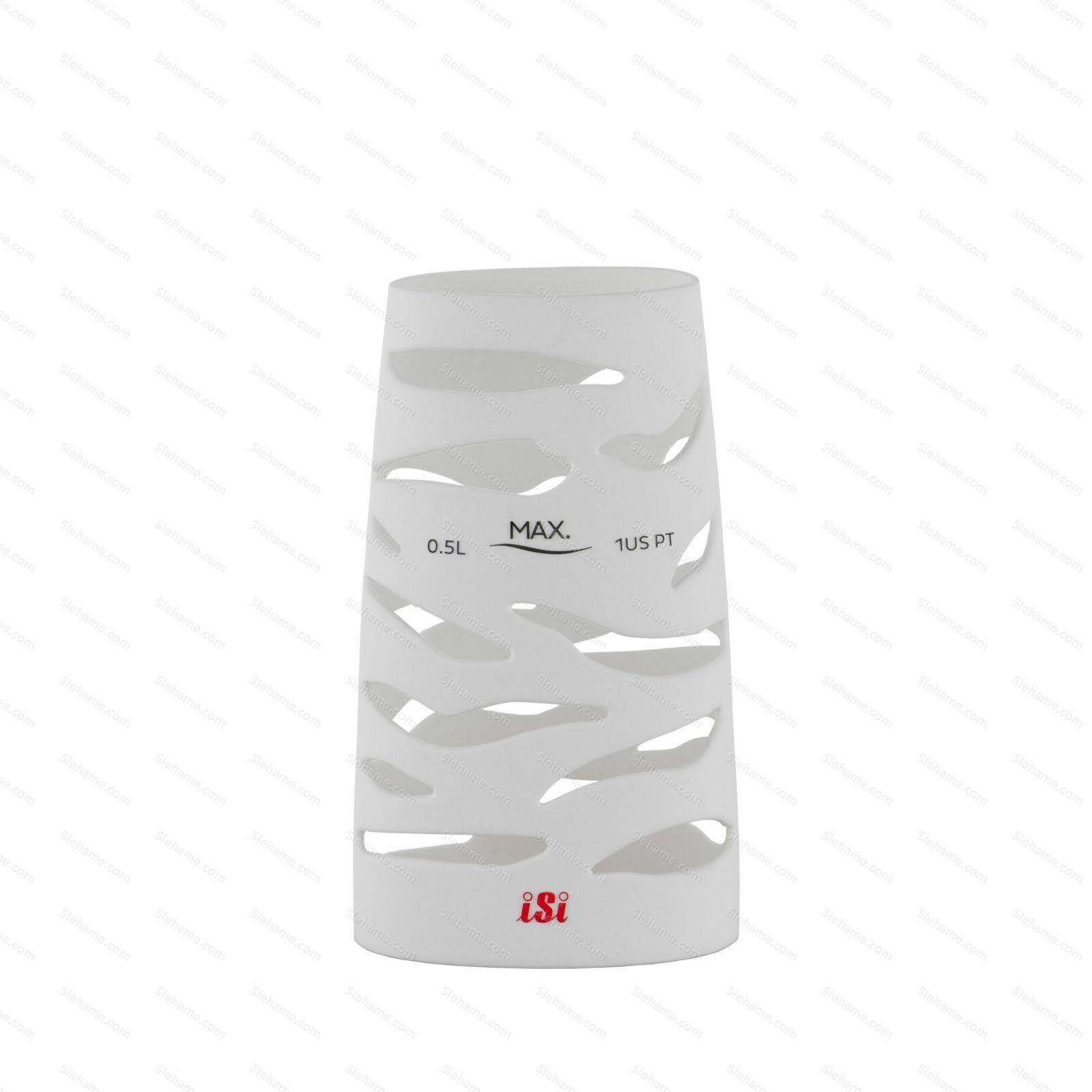 Silikónový návlek pre šľahače iSi 0.5 l, biely