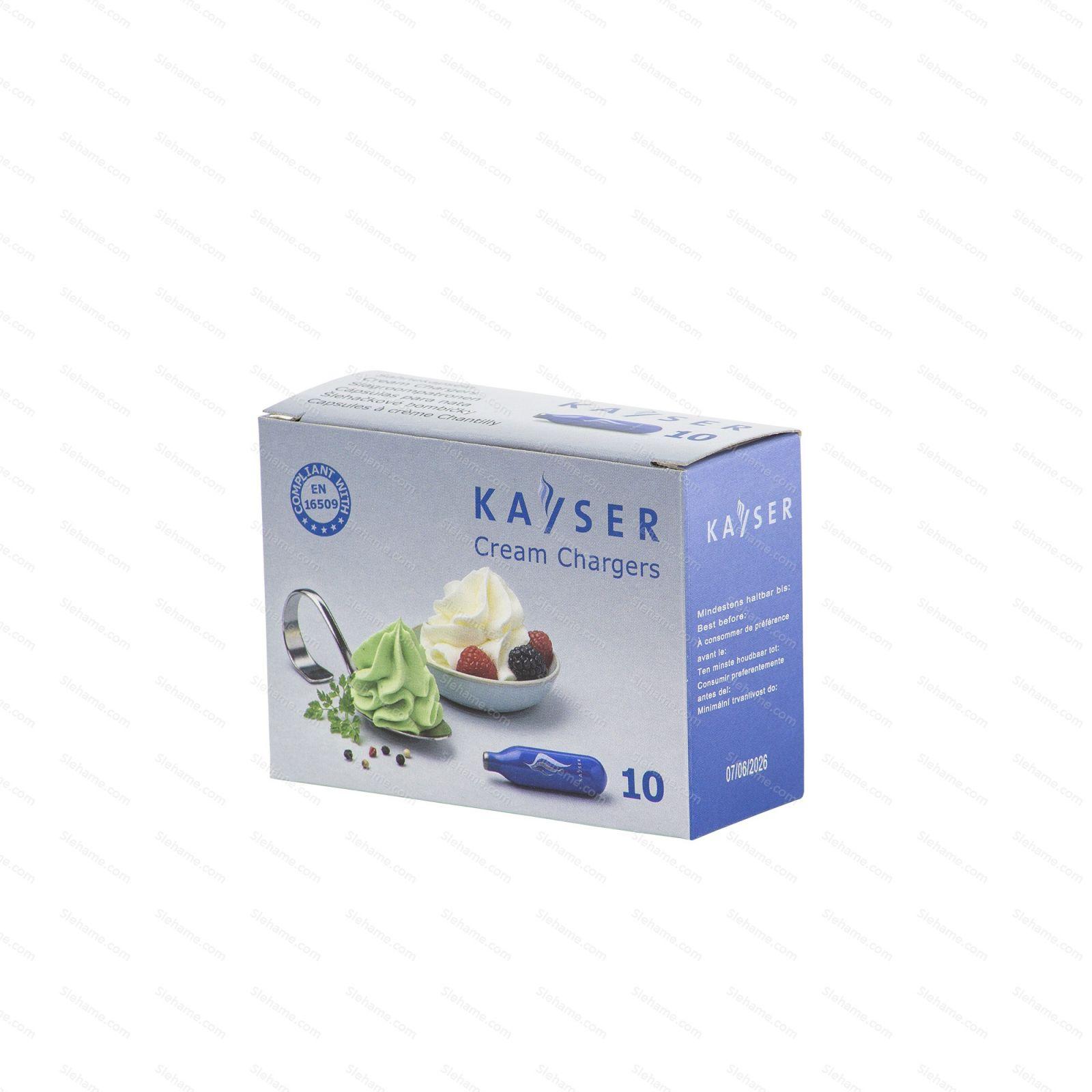 Šľahačkové bombičky Kayser 7.5 g N2O, 10 ks (na jedno použitie)