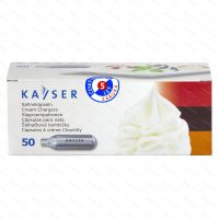 Šľahačkové bombičky Kayser 7.5 g N2O, 50 ks (na jedno použitie)